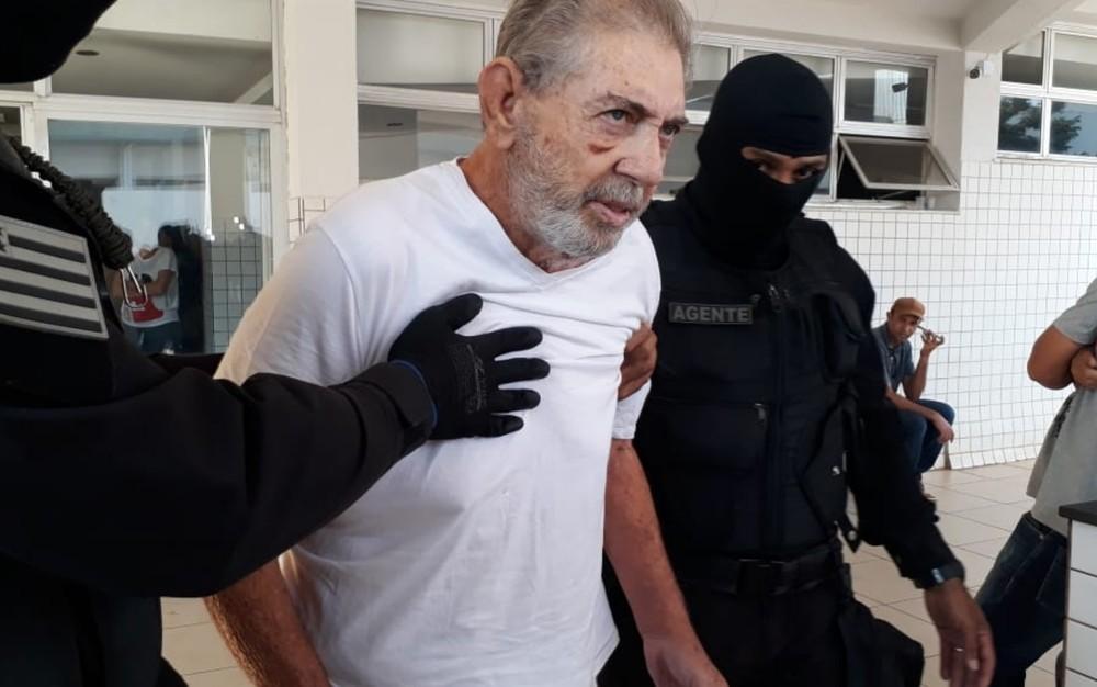 João de Deus, em agosto deste ano, quando passou por exames em hospital de Aparecida de Goiânia — Foto: Renata Costa/TV Anhanguera